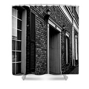 Doorway Black And White Shower Curtain
