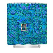 Doorway Into Multi-layers Of Water Art Collage Shower Curtain