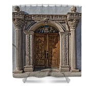 Doorway Of The Santa Teresa De Jesus Church Shower Curtain
