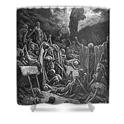 DorÉ: Valley Of Dry Bones Shower Curtain by Granger