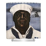 Dorie Miller - Above And Beyond - Ww2 Shower Curtain