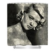 Dorothy Malone Vintage Hollywood Actress Shower Curtain