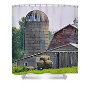 Dorset Street Barn Shower Curtain