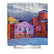 Dorsoduro Colors Under The Clouds 2 Shower Curtain
