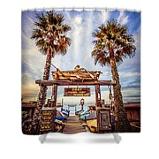 Dory Fishing Fleet Market Picture Newport Beach Shower Curtain by Paul Velgos