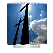 Dos Cruces Shower Curtain