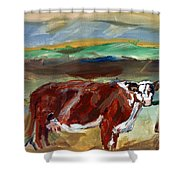 Doster Road Whiteface Shower Curtain