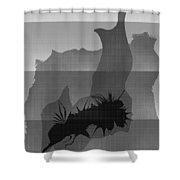 Dot Splat Strata Shower Curtain