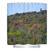 Dots Of Fall Colors Shower Curtain