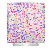 Dots On Pink Background Shower Curtain