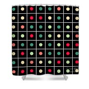 Dotted Grid Shower Curtain