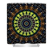 Dotted Wishes No. 3 Kaleidoscope Shower Curtain