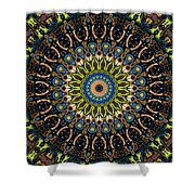 Dotted Wishes No. 4 Kaleidoscope Shower Curtain