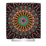 Dotted Wishes No. 4 Mandala Shower Curtain