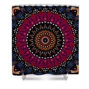 Dotted Wishes No. 5 Kaleidoscope Shower Curtain