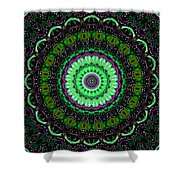 Dotted Wishes No. 6 Kaleidoscope Shower Curtain