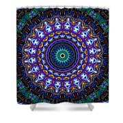 Dotted Wishes No. 7 Kaleidoscope Shower Curtain