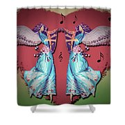 Double Angel Shower Curtain