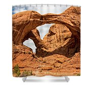 Double Arch - Arches National Park Utah Shower Curtain