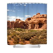 Double Arch Famous Landmark In Arches National Park Utah Shower Curtain