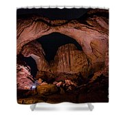 Double Arch Night Shower Curtain