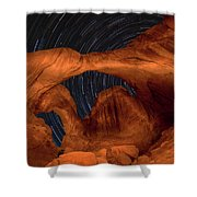 Double Arch Star Trails Shower Curtain