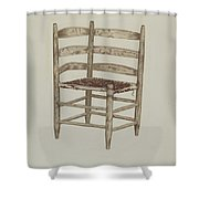 Double Back Chair Shower Curtain