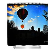 Double Balloons  Shower Curtain