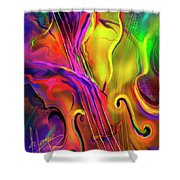 Double Bass Solo Shower Curtain