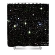 Double Cluster, Ngc 869 And Ngc 884 Shower Curtain