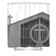 Double Cross Church Shower Curtain