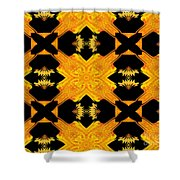 Double Crossed Shower Curtain