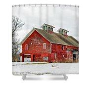 Double Cupola Barn Shower Curtain