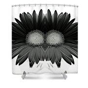 Double Daisy Noir Shower Curtain