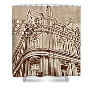 Double Decker View Quote Shower Curtain