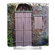 Double Doors And A Window Shower Curtain