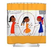Double Dutch Shower Curtain