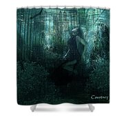 Double Exposure Shower Curtain