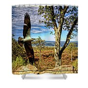 Double Exposure Osprey And High Point Nj Shower Curtain