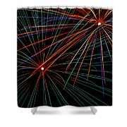 Double Fireworks Shower Curtain