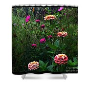 Double Framed Floral Shower Curtain