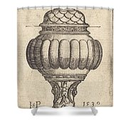Double Goblet With Oval Decorations Shower Curtain