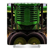 Double Green Machines Shower Curtain