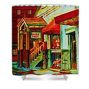 Double Hook Book Nook Shower Curtain