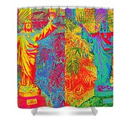 Double Jesus Shower Curtain
