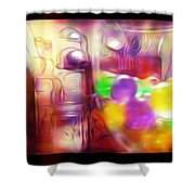 Double Kitchen Vision Shower Curtain