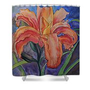 Double Lily Shower Curtain