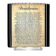 Double Matted Fossilized Desiderata Shower Curtain