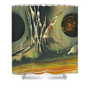 Double Moon Desert Shower Curtain