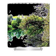 Double Moon Shower Curtain